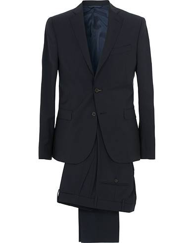 J.Lindeberg Hopper Soft Comfort Wool Suit Navy