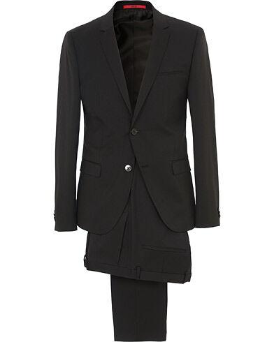 HUGO AlisterS Stretch Wool Suit Black