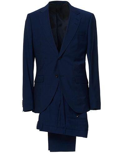 Tiger of Sweden Jamonte Wool Suit Deep Ocean Blue