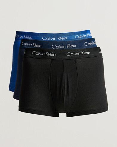 Calvin Klein Cotton Stretch Trunk 3-pack Blue/Black/Cobolt