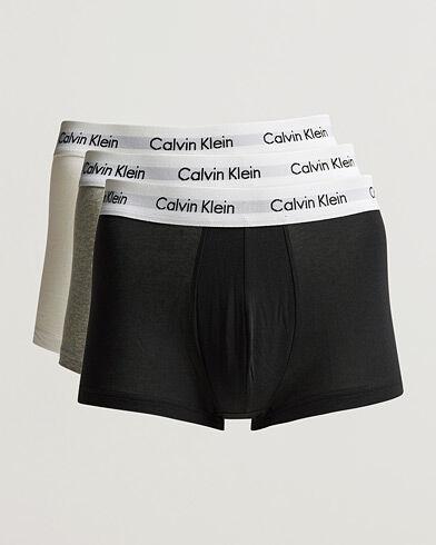 Calvin Klein Cotton Stretch Trunk 3-Pack Black/White/Grey