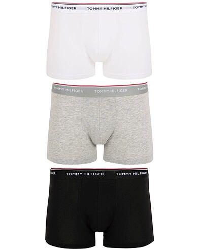 Tommy Hilfiger Stretch Trunk 3 Pack Premium Essentials Grey/White/Blac