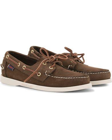 Sebago Docksides Boat Shoe Dark Brown Nubuck