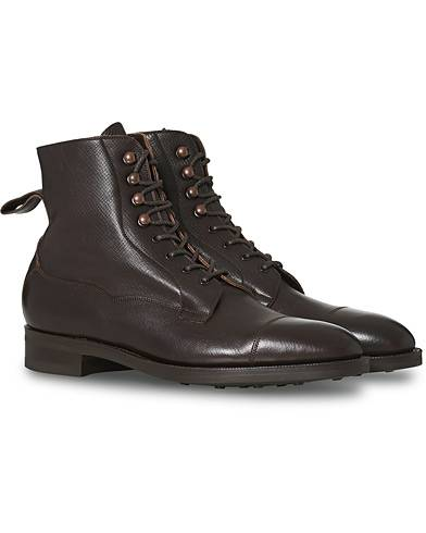 Edward Green Galway Grained Boot Brown Calf