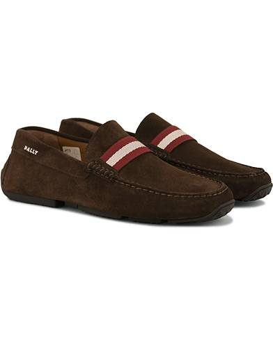 Bally Pearce Car Shoe Brown Suede