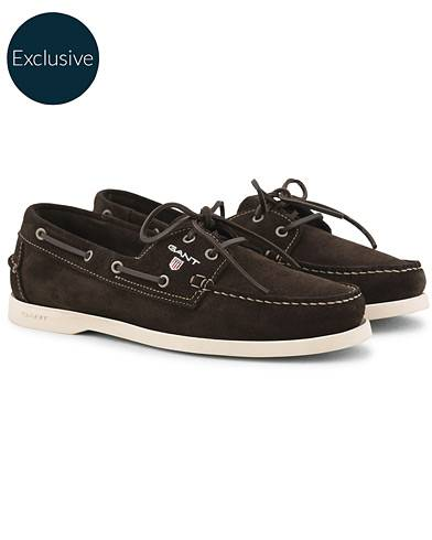 Gant Exclusively Made For Care of Carl Boatshoe Dark Brown Suede
