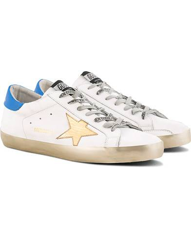 Golden Goose Deluxe Brand Gold Sparkle Superstar Sneaker White Calf