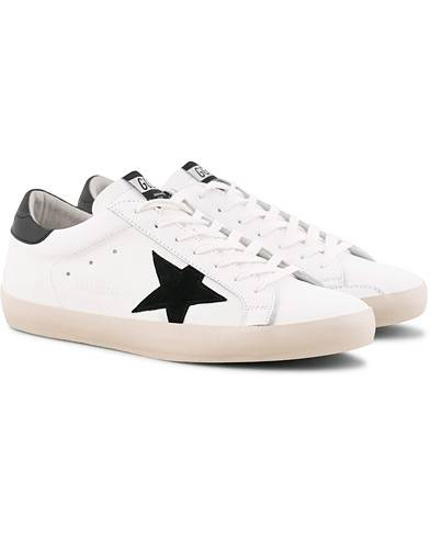 Golden Goose Deluxe Brand Gold Lettering Superstar Sneaker White Calf