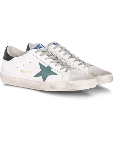 Golden Goose Deluxe Brand Green Star Superstar Sneaker White Calf