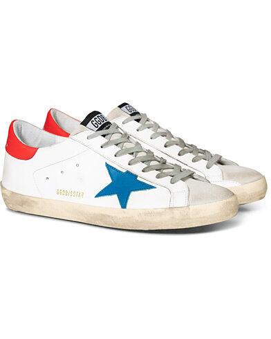 Golden Goose Deluxe Brand Blue Star Superstar Sneaker White Calf