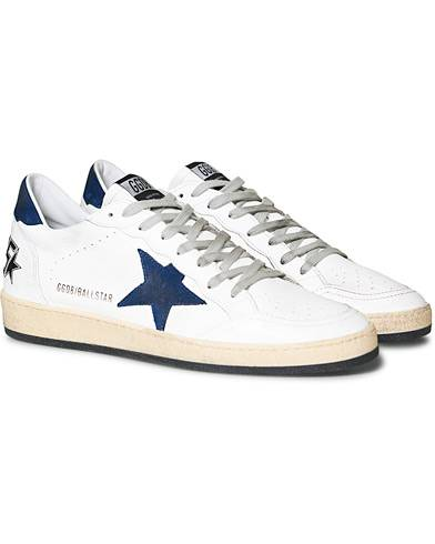Golden Goose Deluxe Brand Nabuck Ball Star Sneaker White Calf