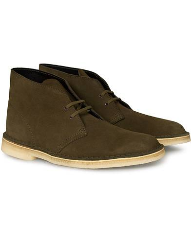 Clarks Originals Desert Boot Dark Olive Suede
