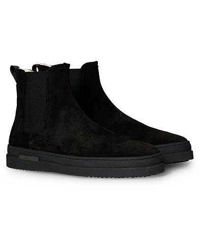 Gant Cloyd Shearling Chelsea Boot Black Suede