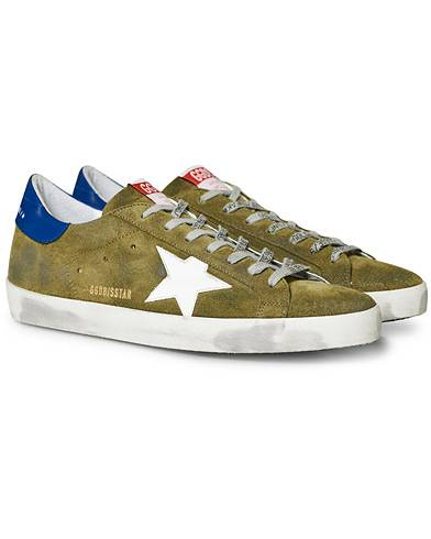 Golden Goose Deluxe Brand Superstar Suede Star Olive