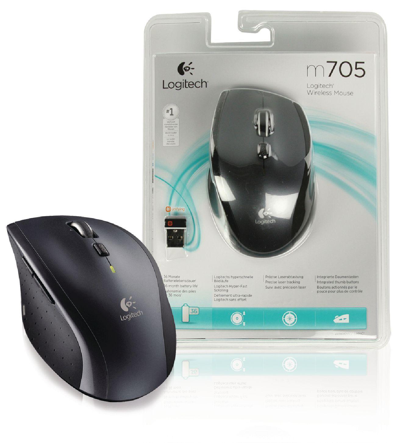 Logitech M705 langaton hiiri hopea