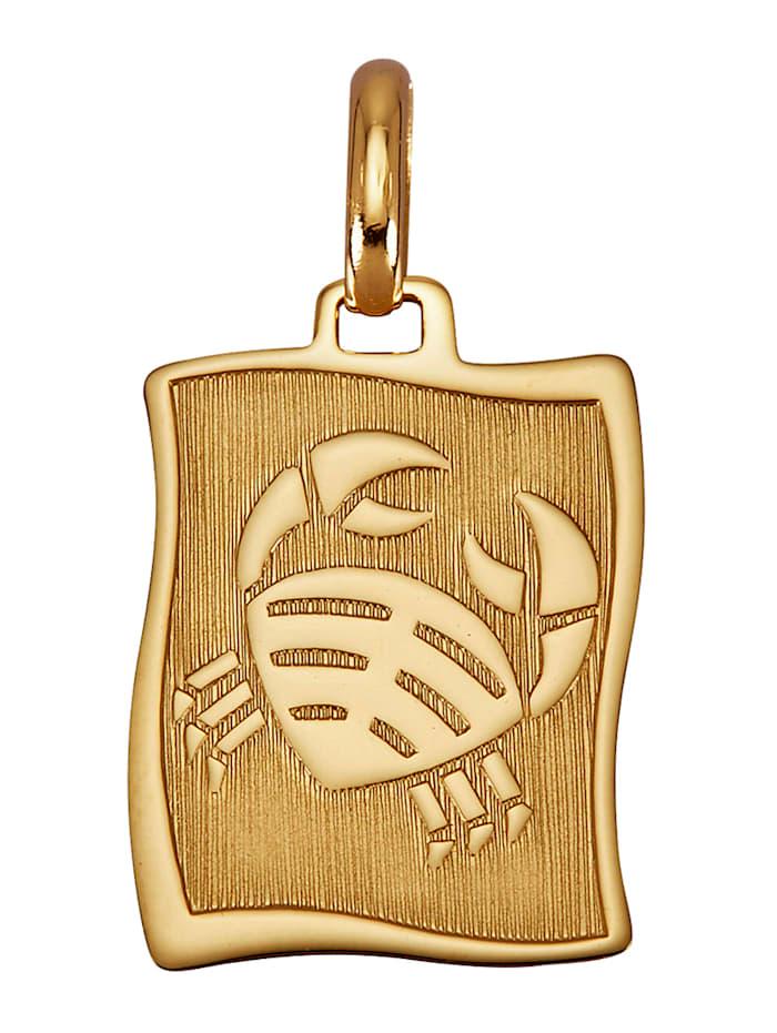Diemer Gold Horoskooppiriipus Rapu  Keltakullanvärinen