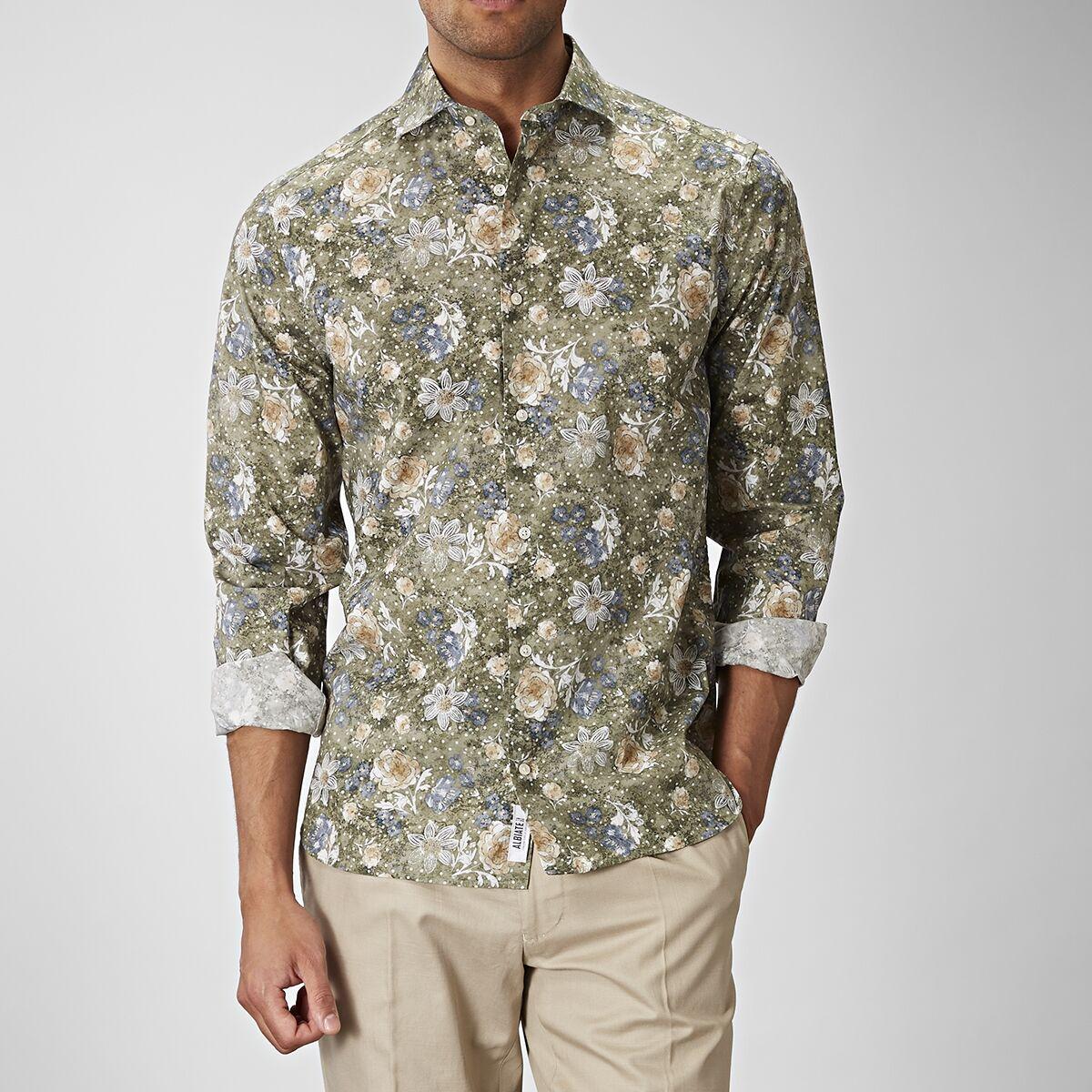 Tailor Club Vihreä kukkakuvioinen paita, Carlton