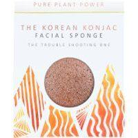 The Konjac Sponge Company The Elements Fire Facial Sponge - Purifying Volcanic Scoria 30g