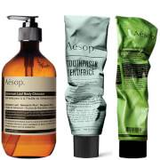 Aesop Body Scrub, Body Cleanser and Toothpaste Bundle