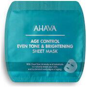 AHAVA Age Control Even Tone & Brightening Sheet Mask -kasvonaamio