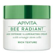 APIVITA Bee Radiant Age Defense Illuminating Cream -voide 50ml, Rich Texture