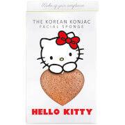The Konjac Sponge Company Sanrio Hello Kitty Konjac Sponge Box and Hook -kasvosienisetti 30g, Pink Clay