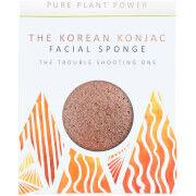 The Konjac Sponge Company The Elements Fire Facial Sponge -kasvosieni 30g, Purifying Volcanic Scoria