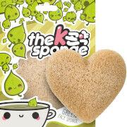 The Konjac Sponge Company K-Sponge Heart Sponge -kasvosieni 12g, Green Tea
