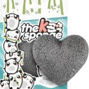 The Konjac Sponge Company K-Sponge Heart Sponge -kasvosieni 12g, Bamboo Charcoal