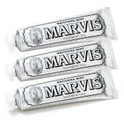 Marvis Whitening Mint Toothpaste Bundle -hammastahnasetti (3x85ml)