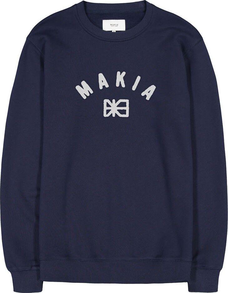 Makia Miesten Collegepusero, Brand Sweatshirt Tummansininen