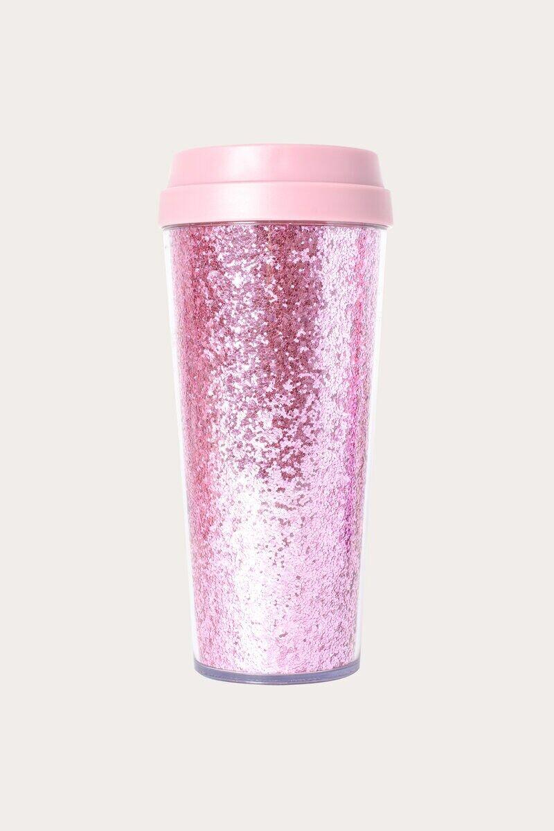 Thermos GLITTER thermos travel mug, pink