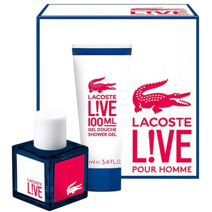 Lacoste Live Giftset  100ml Lacoste Miesten lahjapakkaukset