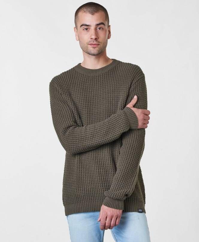 William Baxter Neulepusero Nick Knitted Sweater Khaki