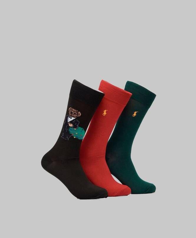 Ralph Lauren BG Xmas  Bear-Socks 3Pack