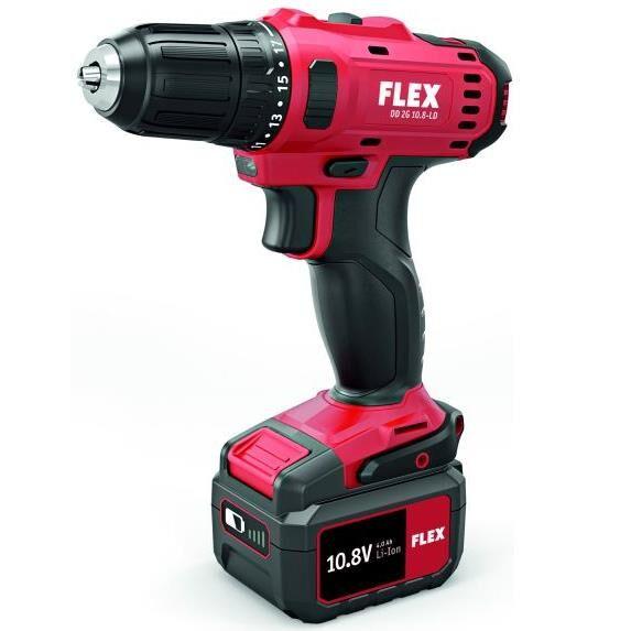 Flex DD 2G 10,8-LD Porakone-ruuvinväännin sis. 4,0Ah akut ja laturin