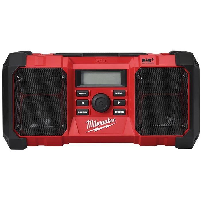 Milwaukee M18 JSR DAB+-0 Radio ilman akkuja ja laturia