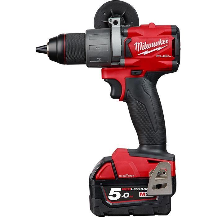 Milwaukee M18 ONEPD2-502X Iskuporakone sis. 5,0 Ah:n akut ja laturin