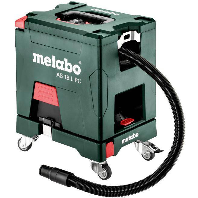 Metabo Set AS 18 L PC Pölynimuri ilman akkuja ja laturia, sis. rulla-alusta