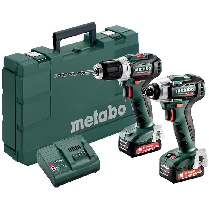 Metabo PowerMaxx BS 12 BL + SSD 12 BL Työkalupaketti akulla ja laturilla