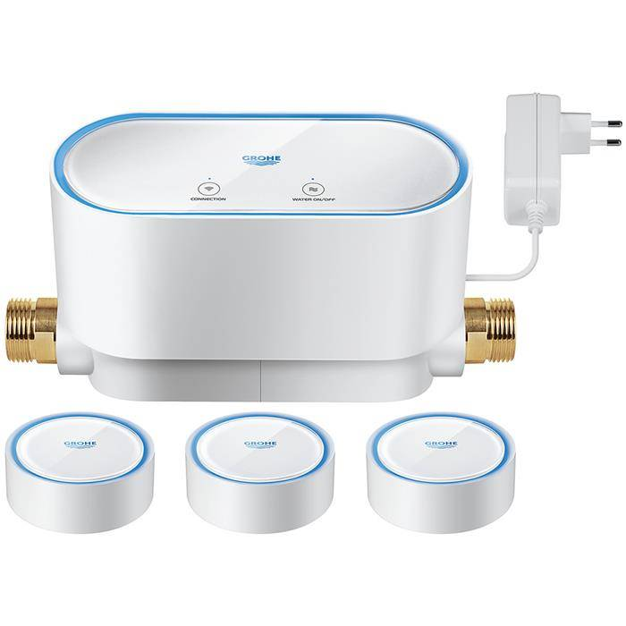Grohe Sense Kit vesiturvallisuusjärjestelmä jossa 3 vesianturia