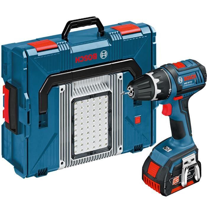 Bosch GSR 18 V-LI  GLI PortaLED 136 L-BOXX Työkalupaketti