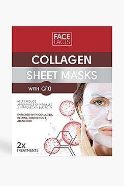 Boohoo Face Facts Collagen & Q10 Sheet Mask  - red - Size: One Size