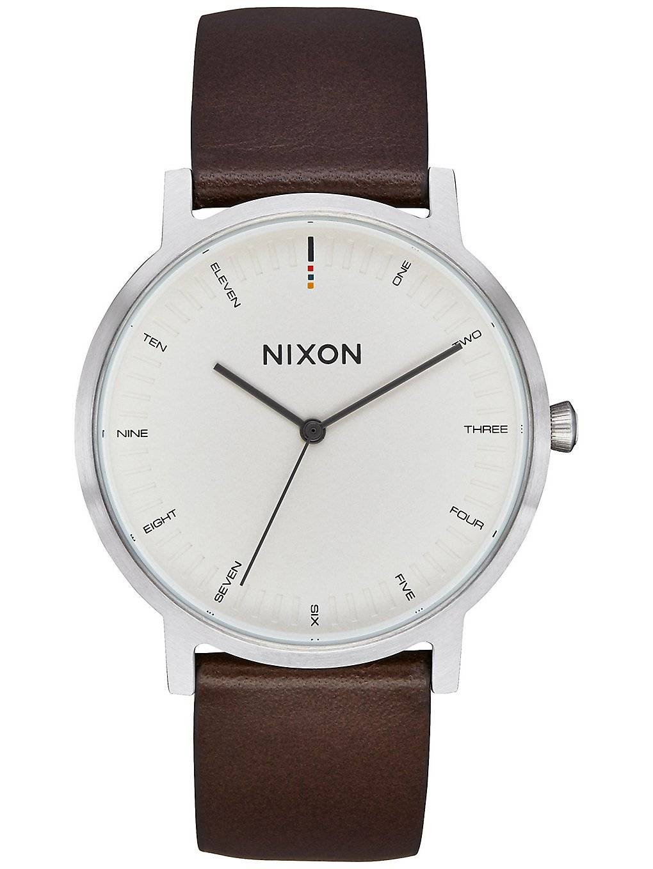 Nixon The Porter Leather valkoinen  - cream