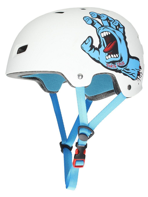 Bullet x Santa Cruz Screaming Hand Helmet valkoinen  - white