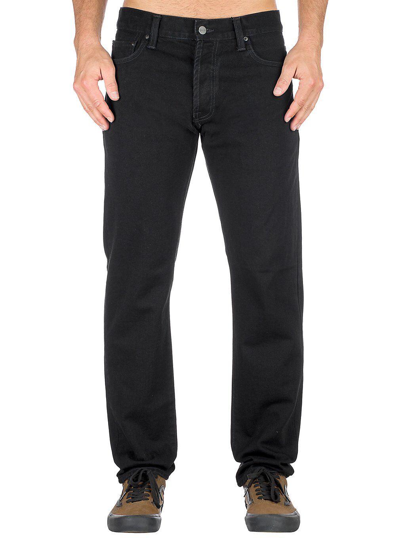 Carhartt WIP Klondike Jeans musta  - black/rinsed