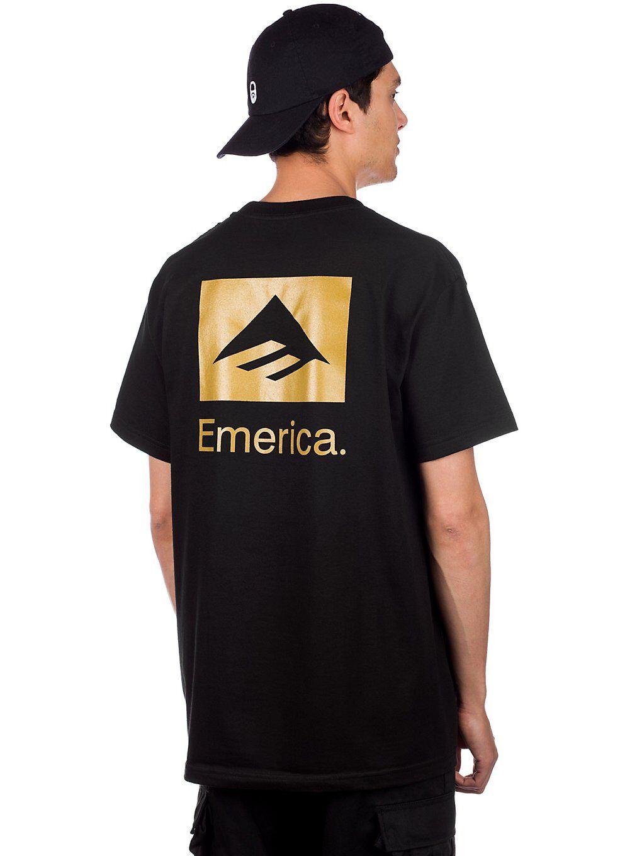 Emerica Brand Stack T-Shirt musta  - black/gold