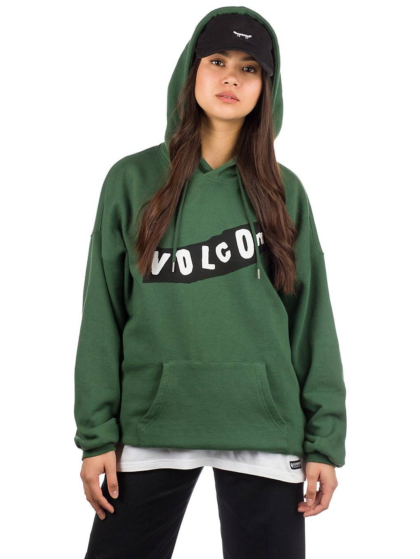 Volcom Roll It Up Hoodie vihreä  - green