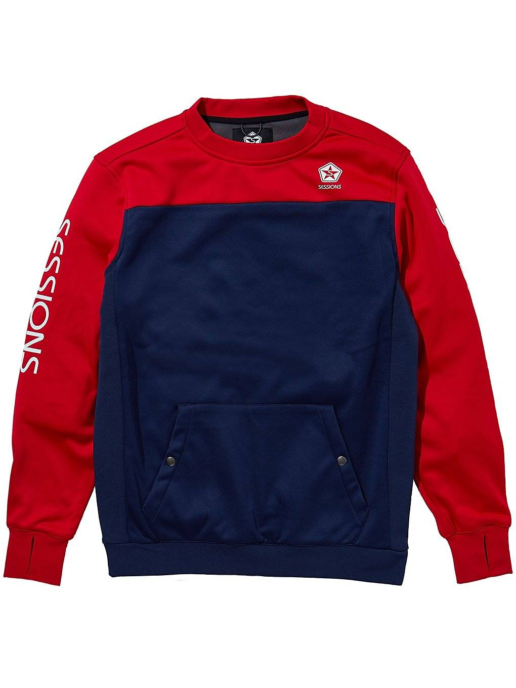 Sessions Roster Crew Sweater punainen  - deep red