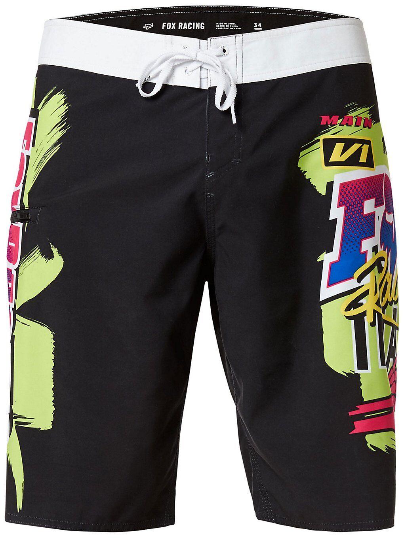 """Fox Castr 21"""" Boardshorts musta  - black"""